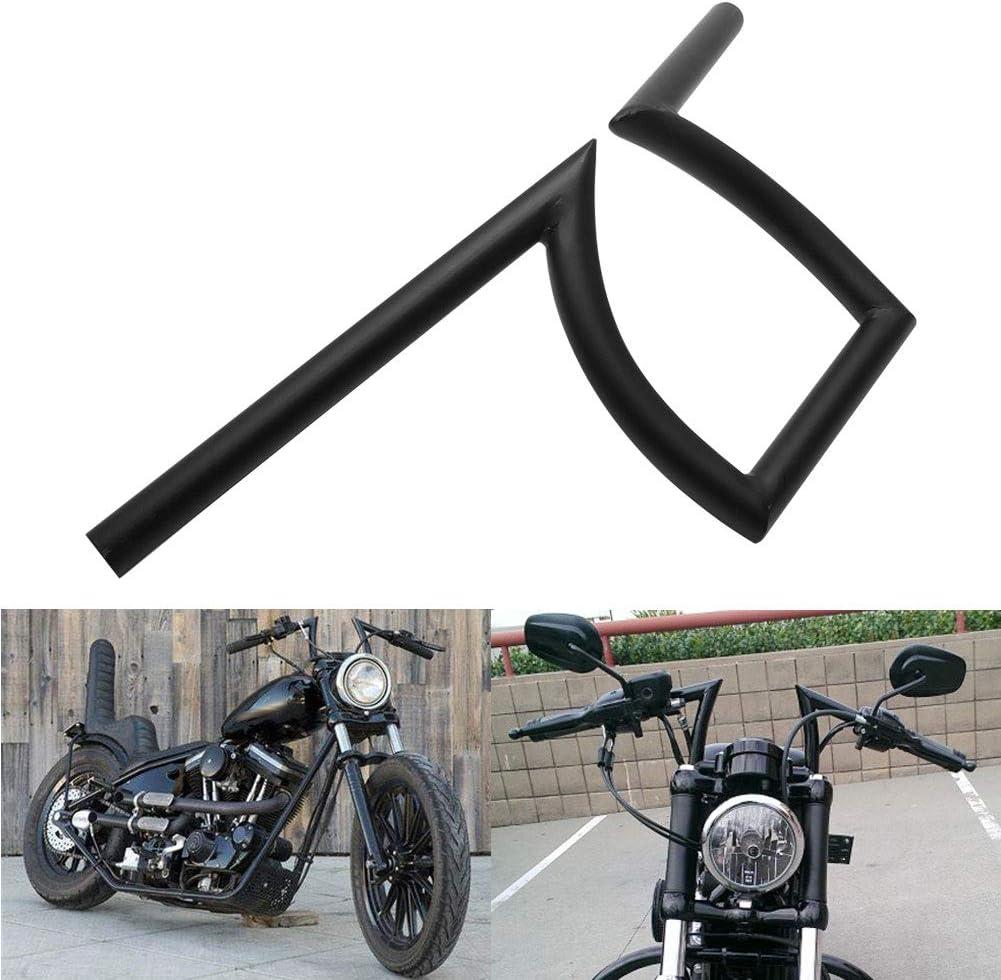 H-Ruo 7//8 Motorcycle Z Bar 22mm Z Handlebar for Harley Honda Yamaha Cafe Racer