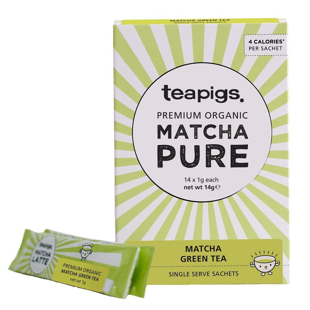 teapigs Pure Organic Matcha Sachets, 14 count