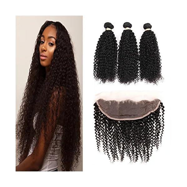 Fabeauty Hair Kinkys Curly Hair Frontal Peruvian Kinkys Curly 4