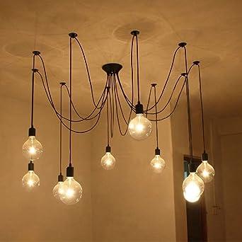 Lixada Kronleuchter Pendelleuchten 9 Lichter Hangende Lampen