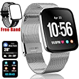 Smart Watch for iOS Android Phones, 1.3'' IPS Screen Fitness Tracker for Men Women with Heart Rate Blood Pressure Oxygen Sleep Monitor IP67 Waterproof Wearable Travel Office Sports Watches