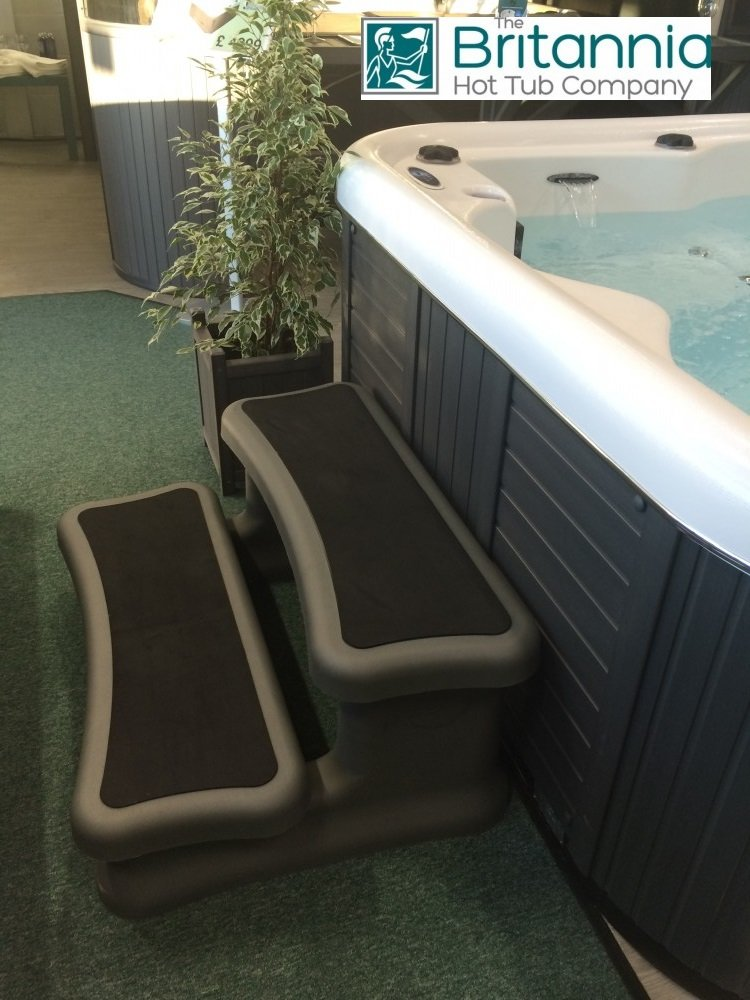 Hot Tub Eco Safety Steps in Grey
