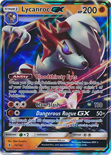 Lycanroc-GX - 74/145 - Ultra Rare - Sun & Moon: Guardians Rising