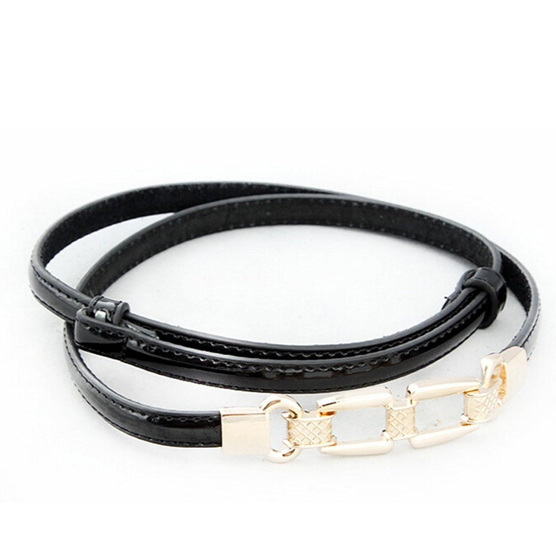 Nanxson(TM) Women's fashion slim decorative Leather Waist Belt hollowed metal PDW0025
