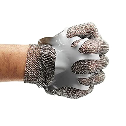 Amazon.com: Guantes de malla de acero inoxidable resistentes ...