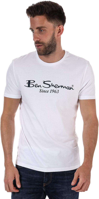 Ben Sherman - Camiseta - para hombre Blanco blanco Medium: Amazon.es: Ropa y accesorios