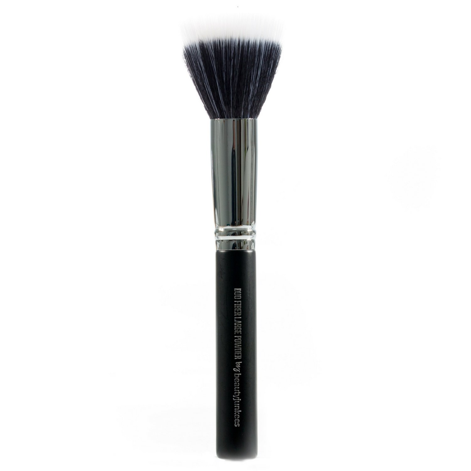 Beauty Junkees Pro Duo Fiber Large Powder Makeup Brush to Blend and Diffuse Loose, Pressed, Translucent Powders for Setting, Finishing, Bronzing, Synthetic, Vegan, Cruelty Free