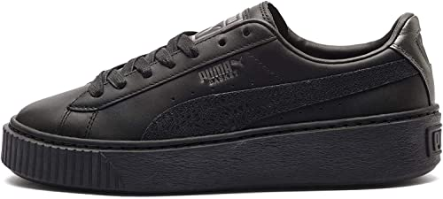 Black-Puma Aged Silver Sneakers