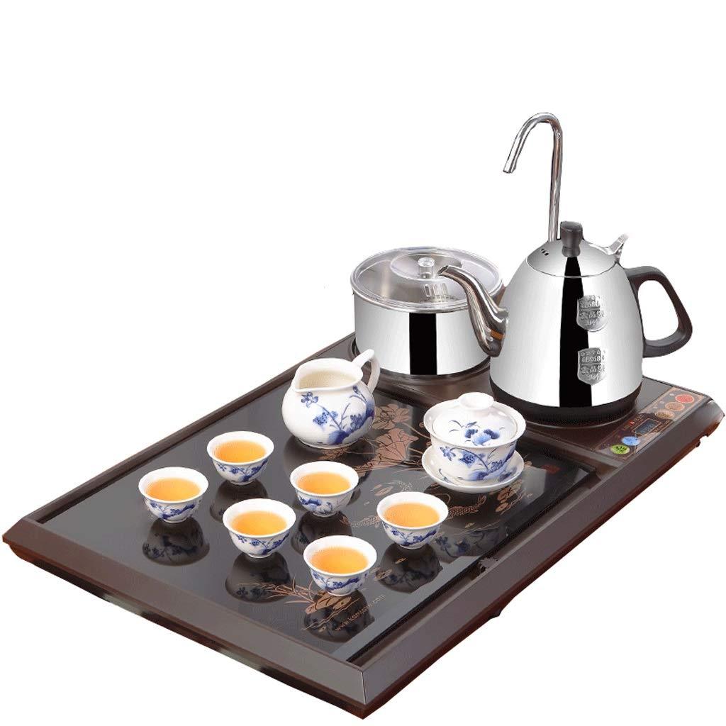 セラミックティーセットティーポットカバーボウルティーカップフェアカップセット自動水茶ストーブガラス茶トレイ4つ1つ LQX B07RCW9G3V