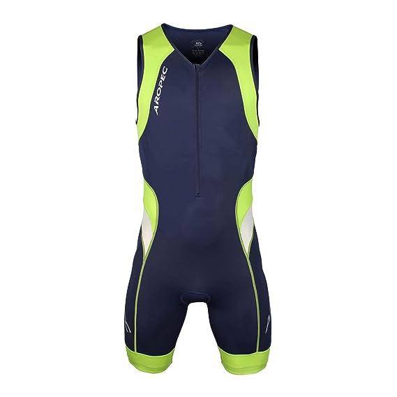 Aropec Lime – Mono Deportivo de Lycra – triatlón Hombres Traje