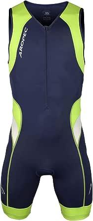 Aropec Lime–Mono Deportivo de Lycra–triatlón Hombres Traje