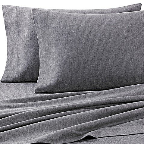 Luxury Portuguese Flannel King Pillowcases in Heather Grey (Set of 2) ()