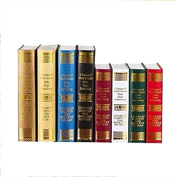 STSJSI Decoración de libros falsos Europa retro serie decorativa ...