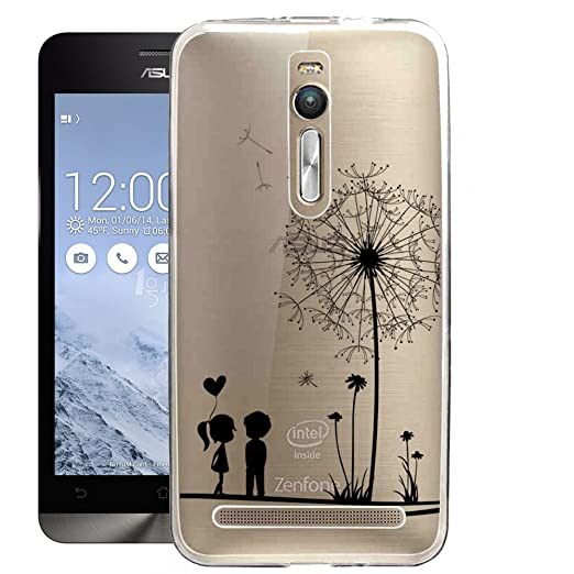 28 opinioni per Custodia per Asus ZenFone 2 5.5'' ZE551ML, ocketcase Morbido Flessibile TPU Gel