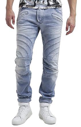 8d8a00cb04b PIERRE BALMAIN Biker Jeans, Light Blue (36) at Amazon Men's Clothing ...