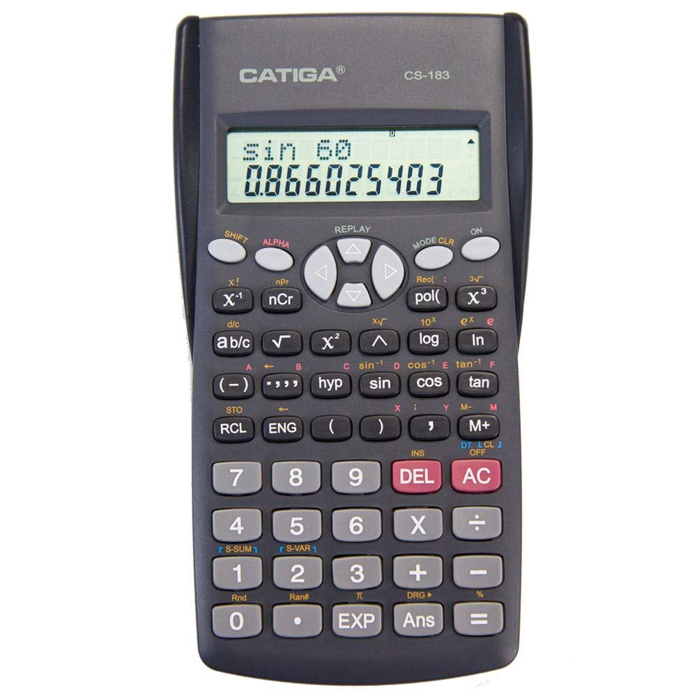 CATIGA CS-183 2-Line LCD Display Scientific Calculator - Suitable for School and Business by CATIGA