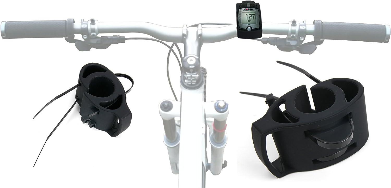 DURAGADGET Fantástico Soporte para Bicicletas para El Reloj Pulsómetro Polar FT1 + Dos Presillas para Ajustarlo Al Máximo A Su Manillar: Amazon.es: Electrónica