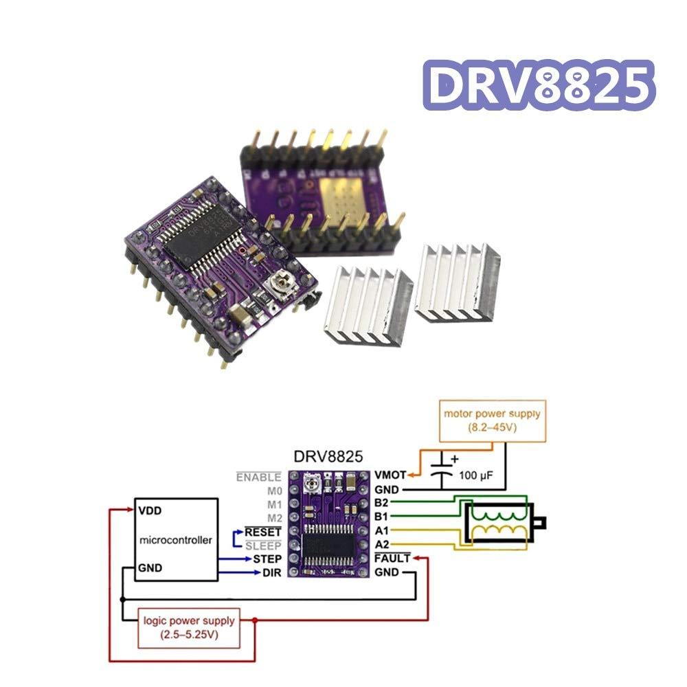 Amazon.com: WuLian DRV8825 - Motor paso a paso para ...