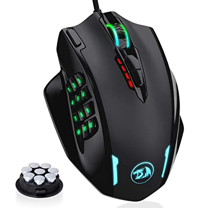 15dc88dab8a Image Unavailable. Image not available for. Color: Redragon RGB LED Wired Gaming  Mouse, 18 Programmable Mouse Buttons