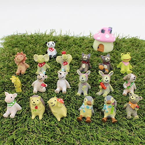 Miniatura Jardín Figuras Zakka Gato Lucky Perro Kawaii Panda Rosa Pig Lovely Animales Decorativas Figuras de Hada Resina Mini Elefante: Amazon.es: Hogar