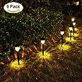 GELOO Solar Lights Outdoor, 6 Pack Color Changing Solar Pathway Lights Outdoor Garden Lights Landscape Lighting Weatherproof Auto On/Off for Garden Lawn Patio Yard Walkway Sidewalk Driveway