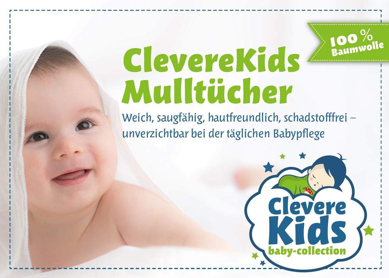 Fuchs-Multistar Clevere Kids Mullt/ücher Fuchs /& Igel mit Sternen Set 6 St/ück Mullwindeln /Öko-Tex