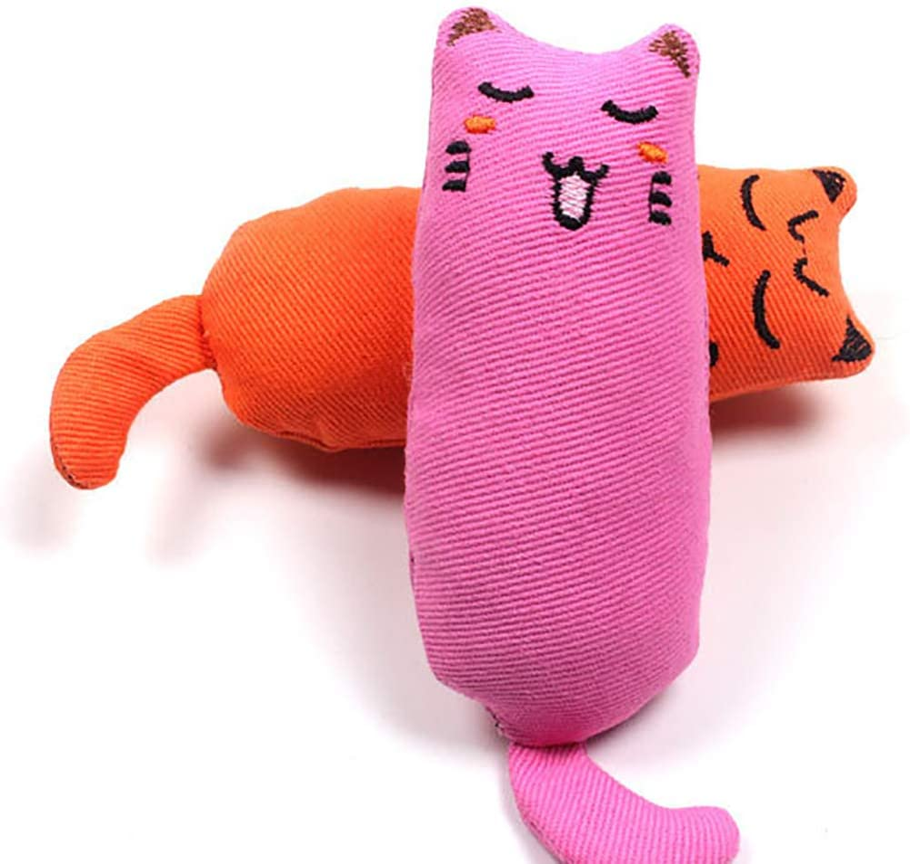 Legendog 5Pcs Catnip Toy, Cat Chew Toy Bite Resistant Catnip Toys for Cats,Catnip Filled Cartoon Mice Cat Teething Chew Toy Multicolor