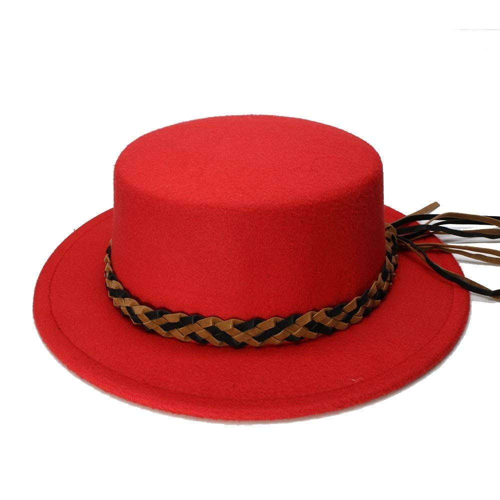 Goodscene Fashion Unisex Winter Hat Retro Kid Vintage 100/% Wool Wide Brim Cap Pork Pie Porkpie Bowler Hats Braid Leather Band