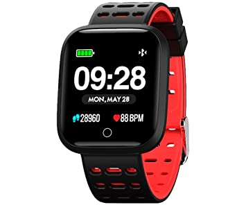 Innjoo Reloj SMARTWATCH Sport Watch Rojo P3.3 NOTIF F.Cardiaca and ...