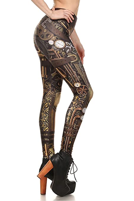 7df714a30e Women Steampunk Retro Leggings Comic Cosplay Punk Print Polyester Gothic  Trousers Capris Pants S-4XL Plus Size