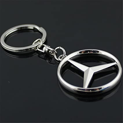 Amazon.com  3D Car Key Chain Mercedes Benz Car Logo Key Chains Gift ... ab5f3febd782