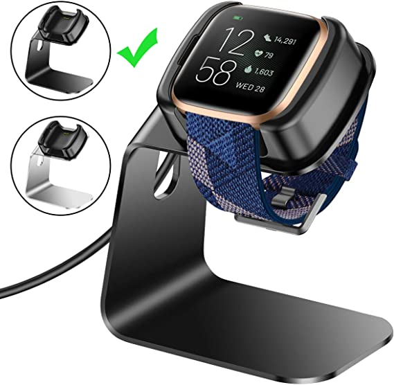 Charger Compatible with Fitbit Versa 2 Charger Stand Charging Dock for Fitbit