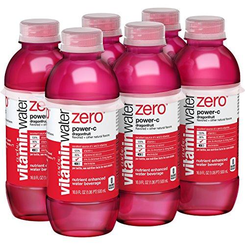 vitaminwater zero Power-C, 16.9 fl oz, 6 Pack