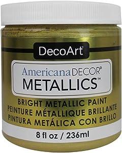 DecoArt Ameri Deco MTLC Americana Decor Metallics 8oz Soft Gold
