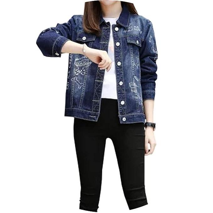 dbdfc87683 Spring Autumn Women Casual Jackets Coats Long Sleeve Vintage Denim Jackets  Girls Outwear