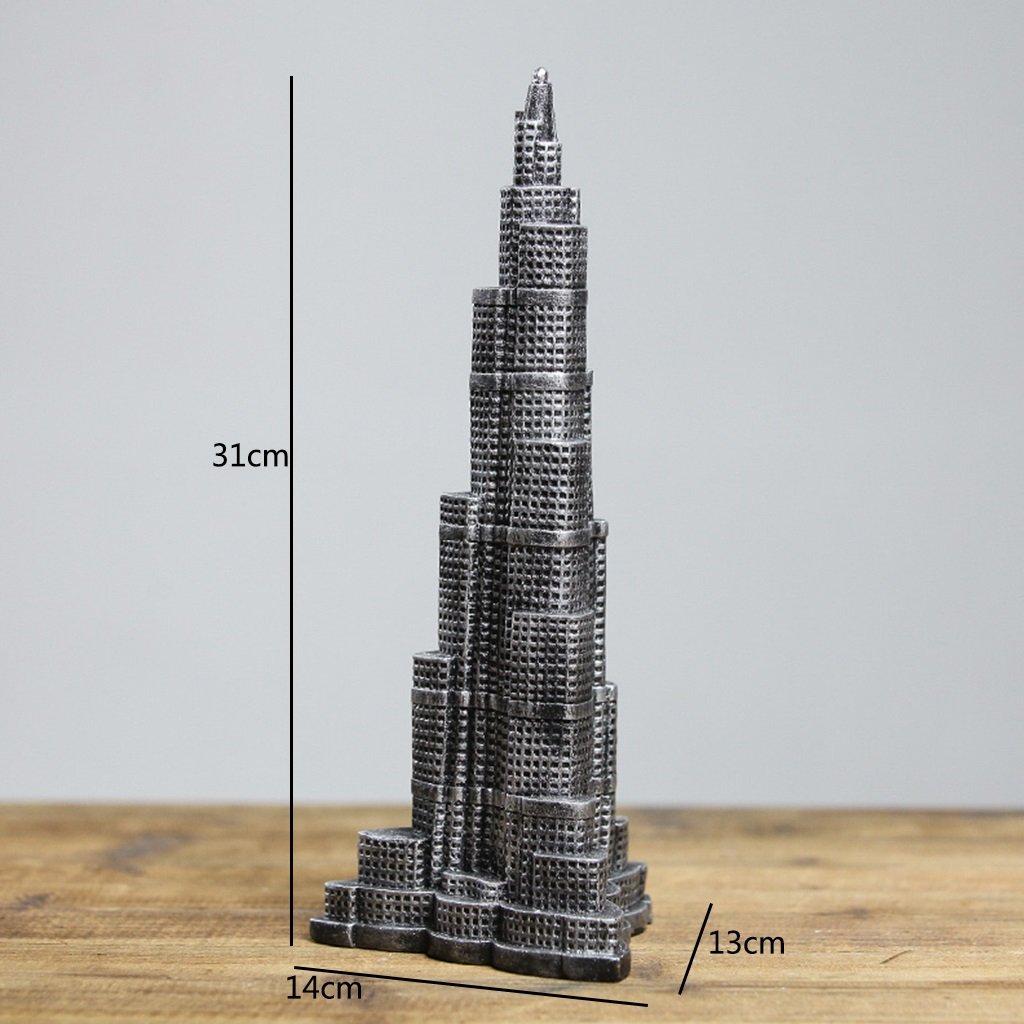 Amazon.com: Burj Khalifa Torre Modelo/Edificio Modelo Mueble ...