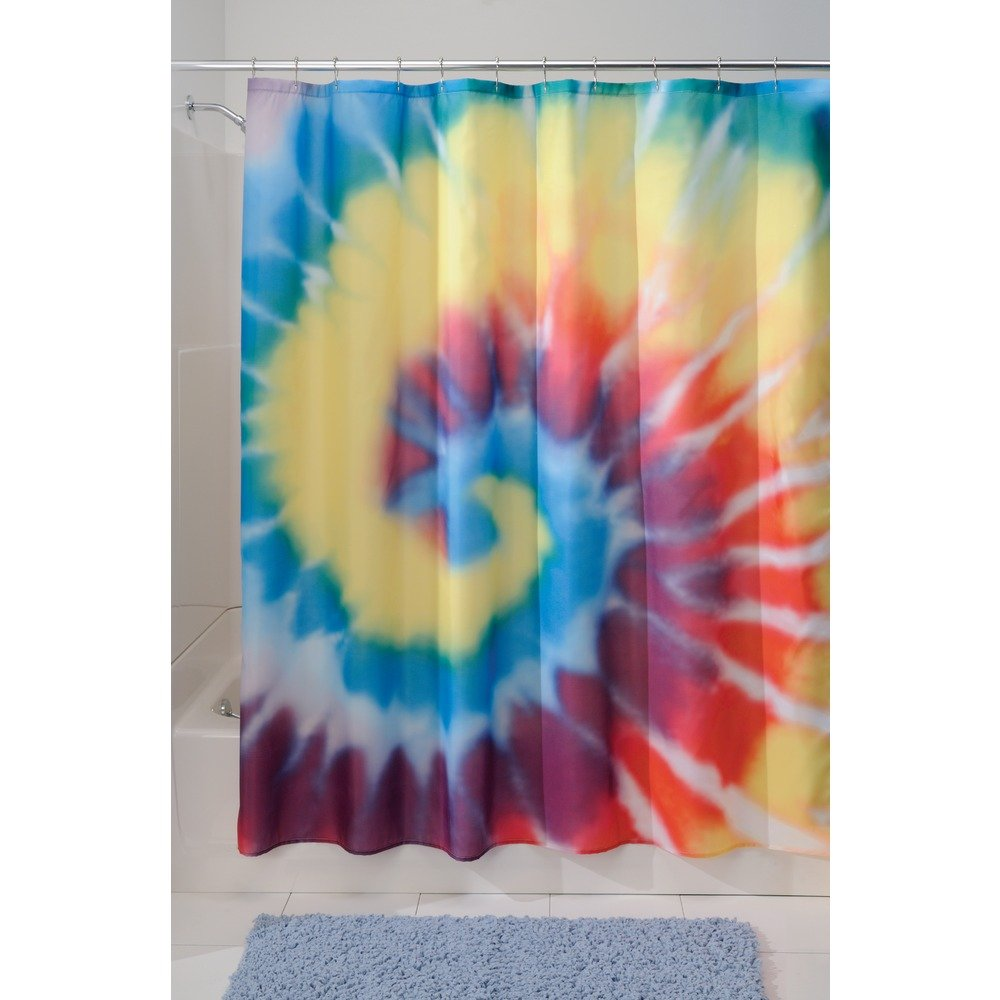 Interdesign Tie Dye Fabric Shower Curtain 72 X 72 Bright Multi Color Ebay