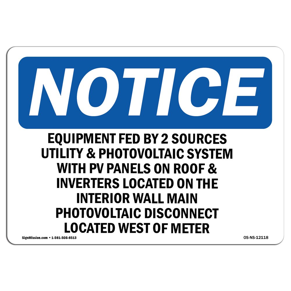 OSHA通知サイン| Heavy Duty Signまたはラベル 10