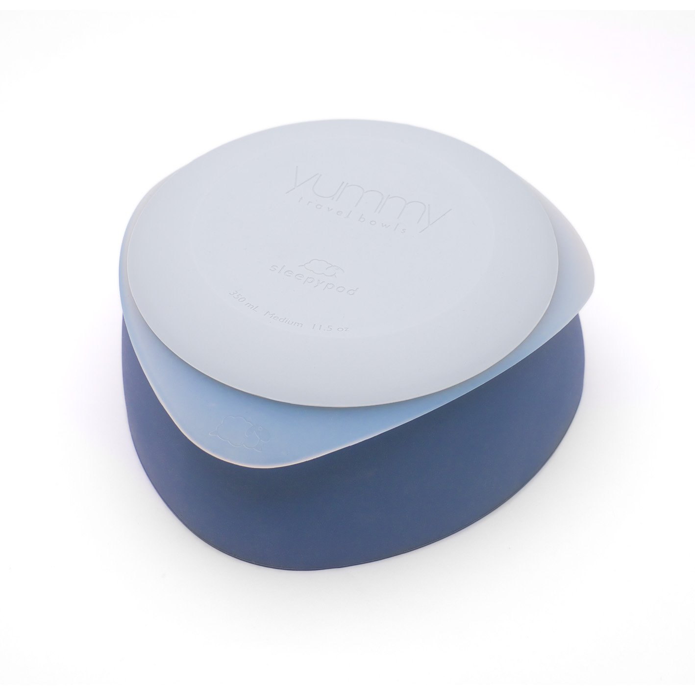 Sleepypod Yummy Travel Bowl Blueberry Medium by Sleepypod