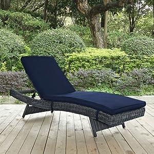 Amazon Com Modway Summon Outdoor Patio Chaise Lounge
