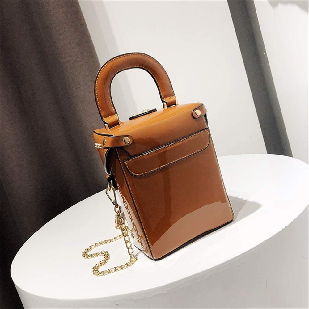 Womens Crossbody Bag Chain Shiny Shoulder Bag Small Square Bag Handbag