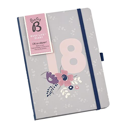 Busy B 2018 6843 A5 Pretty Floral Design Diary