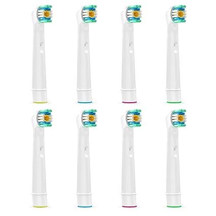 Brubaker – Juego de cabezales para cepillo de dientes eléctrico para Oral B 3d blanco (