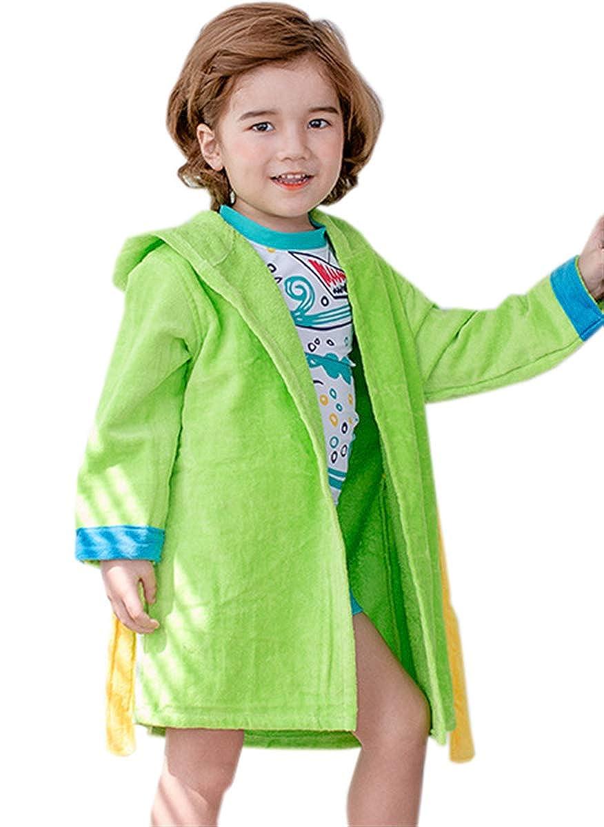 Betusline Little Boys Hooded Bath Robe Towel 0-6 Years