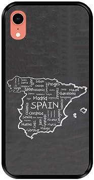 Hapdey Funda Negra para [ iPhone XR ] diseño [ Mapa Dibujado a ...
