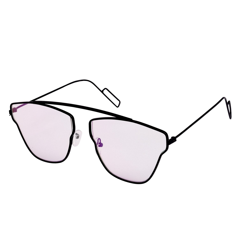 4a13d56f50 Dervin Black Frame Clear Lens Wayfarer Sunglasses for Men   Women  Amazon.in   Clothing   Accessories