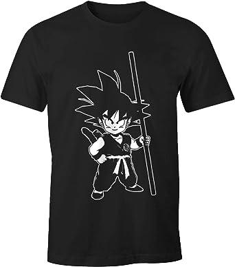 MoonWorks - Camiseta para hombre - Son Goku Child Super Saiyajin Dragonball Z - Comfort Fit
