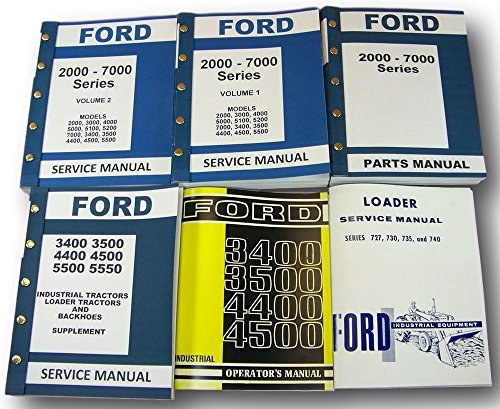 Ford 3400 3500 Industrial Loader Tractor Service Repair Parts Operators (Ford Loader Parts)