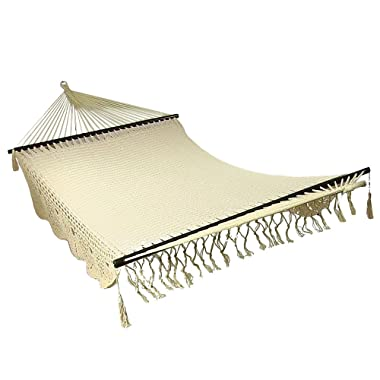 Sunnydaze Deluxe Hammock American Style with Spreader Bars, 770 Pound Capacity