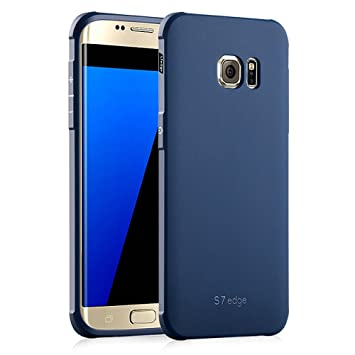 Hevaka Blade Samsung Galaxy S7 Edge Funda - Suave Silicona TPU Carcasa Smart Case Cover para Samsung Galaxy S7 Edge - Azul